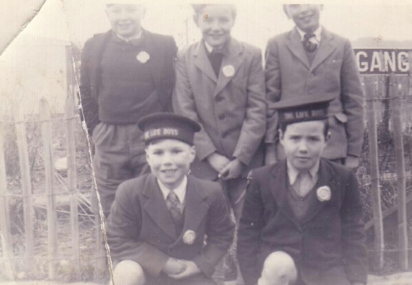Group Of Oxgangs Life Boys Members At Oxgangs Grove 1953