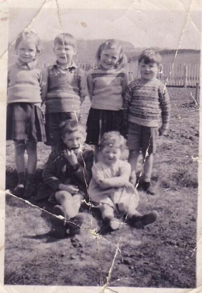 "The ""Oxgangs Gang"" In Garden At Oxgangs Grove c.1951"