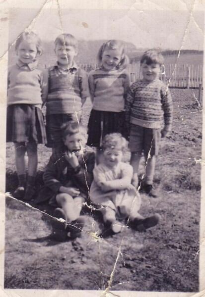 "The ""Oxgangs Gang"" In Garden At Oxgangs Grove c.1951"