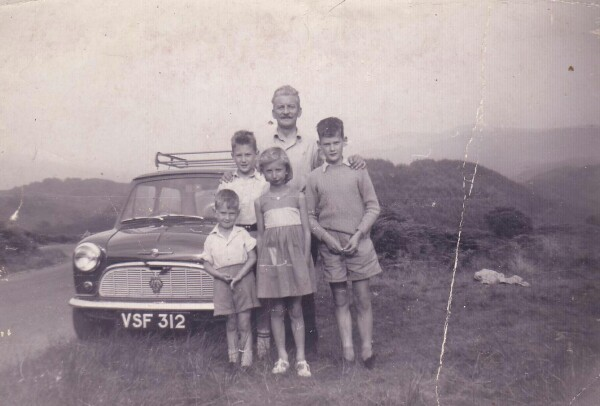 Family Outing To The Highlands In The Mini c.1960