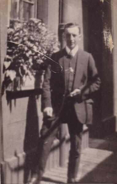 Edwardian Gentleman Standing Outside Tenement On Morrison Street c.1905