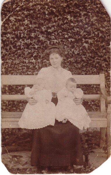 Mother With Her Twin Babies 1911
