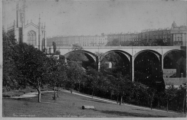 Holy Trinity Kirk And Dean Bridge 1880