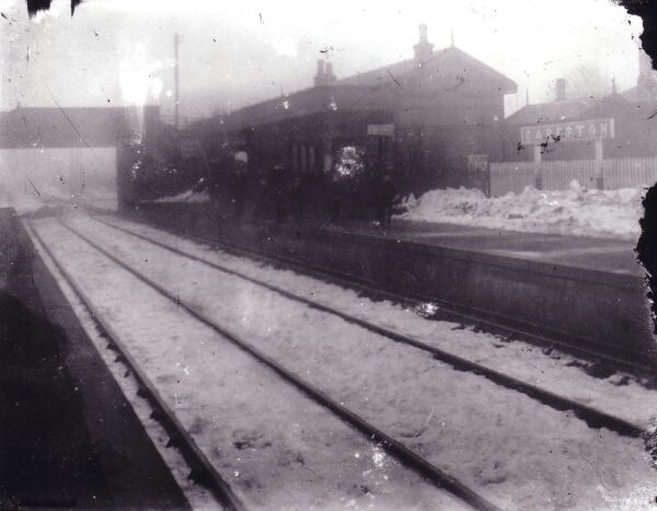 Careston Railway Station In Winter 1890