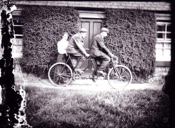 Two Young Men On Tandem Bicycle At South Queensferry c.1905