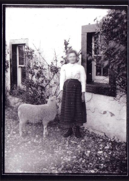 Girl With Pet Lamb c.1900
