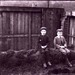 Two Boys Sitting On Tree Trunk At Bell's Mill By Belford Bridge c.1890