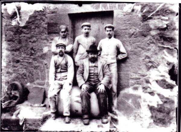 Workers At Bell's Mill By The Water Of Leith c.1895