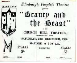 """Beauty and the Beast"" ticket"