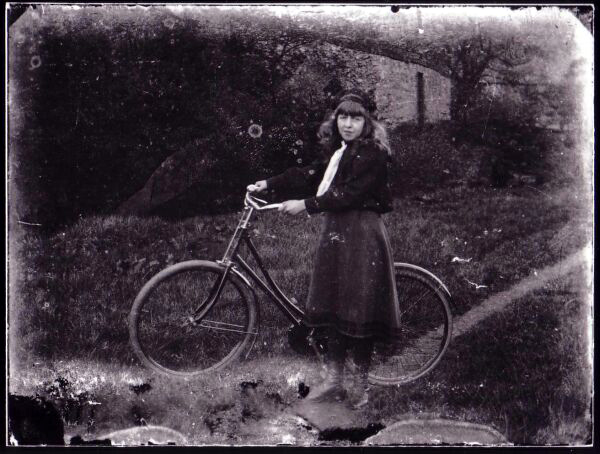 Girl With Bicycle c.1900