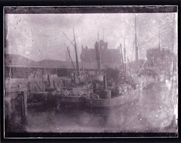 Trawlers In Leith Harbour c.1900