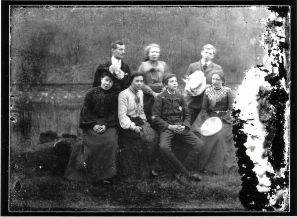 Family Portrait By Water Of Leith c.1903