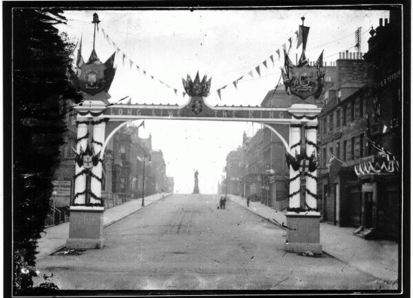 Street Decorations For The Coronation Of Edward VII At Foot Of Hanover Street 1902
