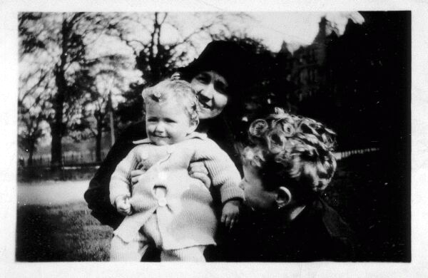 Aunt With Her Two Nephews 1930