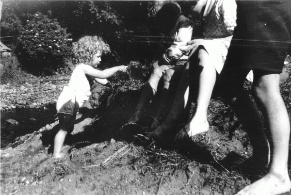 Child Playing By The Burn c.1930