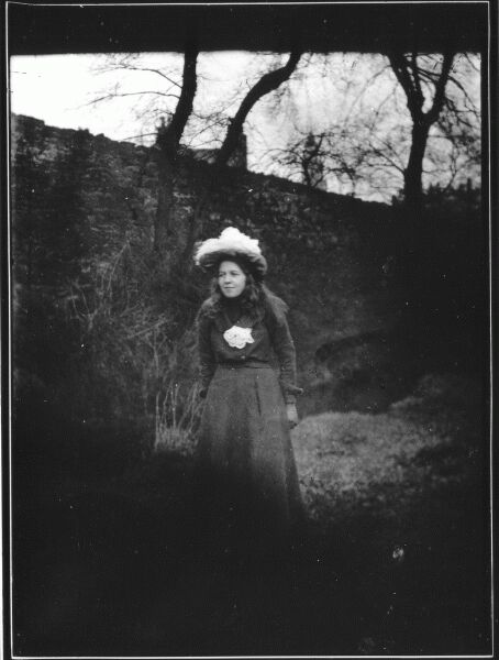 Young Woman In Garden At Belford Terrace c.1901