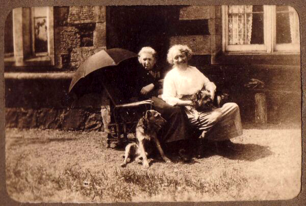 Two Sisters Sitting In The Sun At Bogie Farm Near Thornton In Fife c.1930