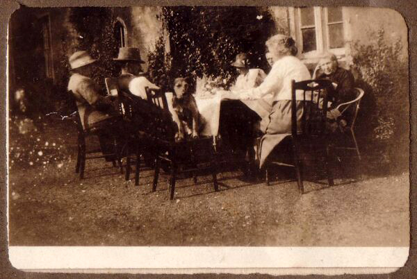 Family At Table Outdoor Bell's Mill House c.1933