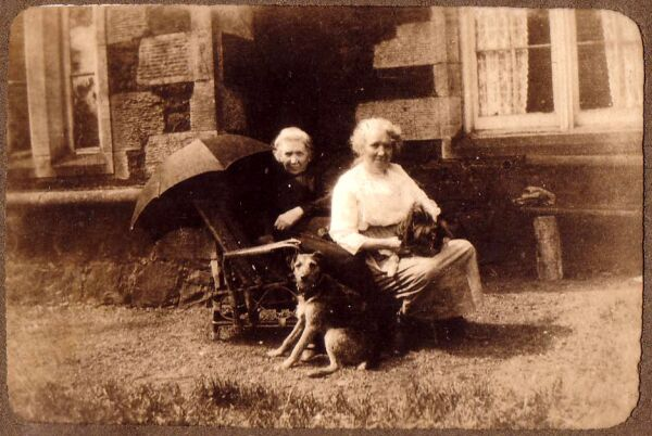 Two Sisters Sitting Out In The Sun At Bogie Farm c.1930