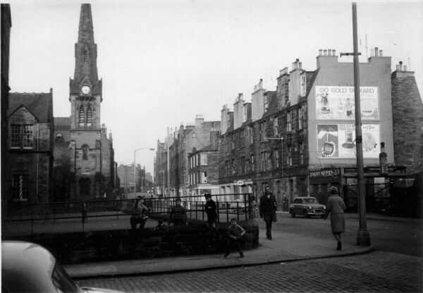 Dalry Road With Primary School Playground In Foreground 1950s
