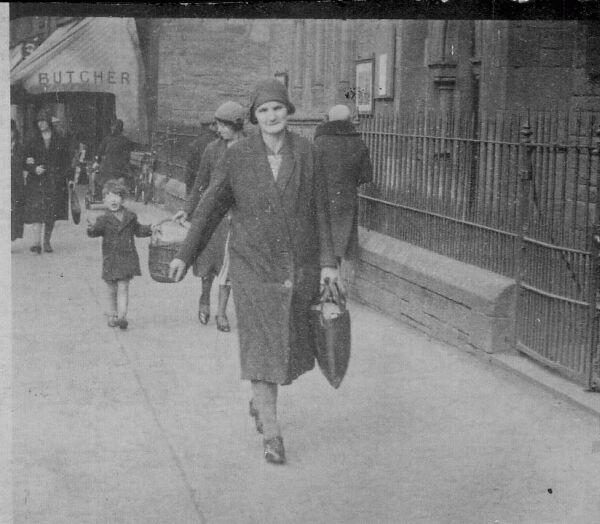 Woman Carrying Home The Messages Along Gorgie Road 1930s