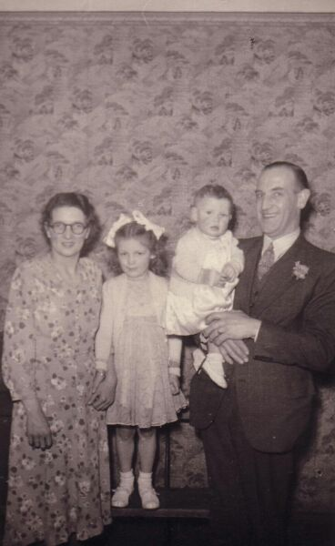 Family Portrait Taken At A Wedding c.1953