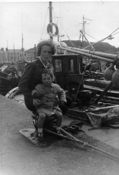 Mother And Daughter At Stornoway Harbour c.1964