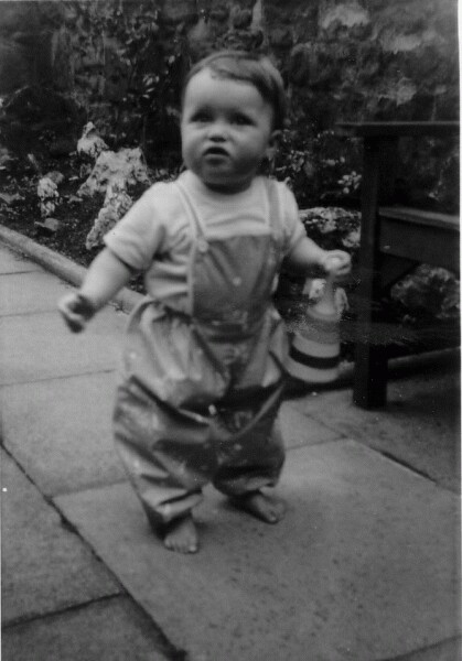 Young Child At Play In Garden Of Home At 28 Upper Gilmore Place, July 1963