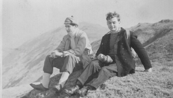 Hillwalkers Taking A Rest On Stobinian and Ben More c.1952