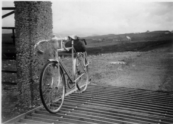 Touring Bike Resting On Cattle Grid At Balallan On The Isle Of Lewis, July 1951