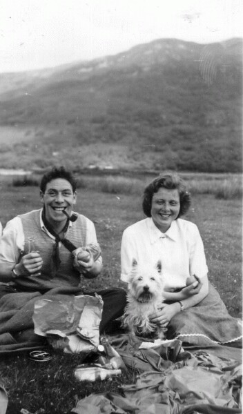 HIghland Picnic With Dog c.1950