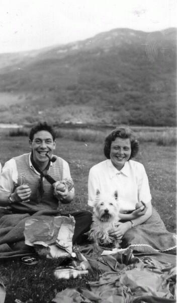 HIghland Picnic With Dog c.1950