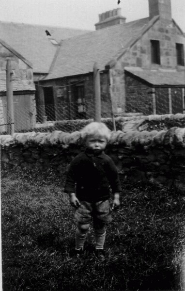 Young Boy In Back Garden At 7 Hawthorn Terrace, Cockenzie c.1929