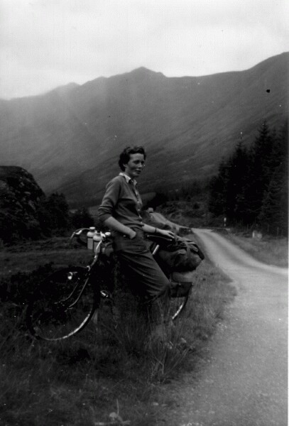 Cyclist On Touring Holiday, August 1958