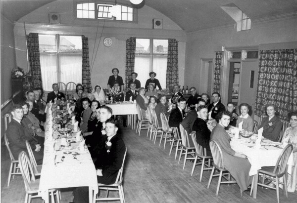 Wedding Dinner At 'The Ship' In Port Seton 1953
