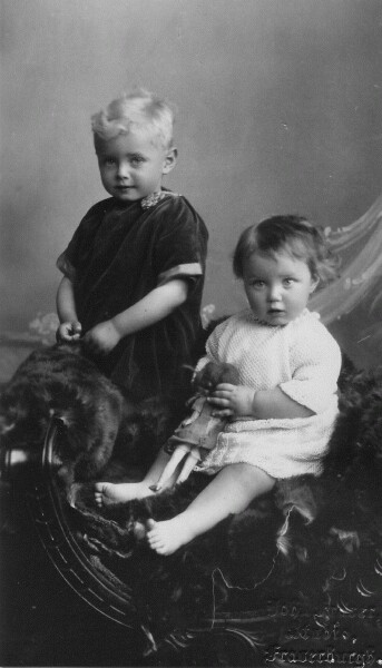 Studio Portrait Young Brother And Sister c.1930
