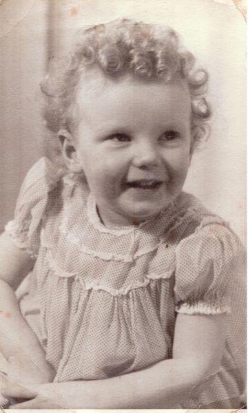Studio Portrait Young Girl 1948