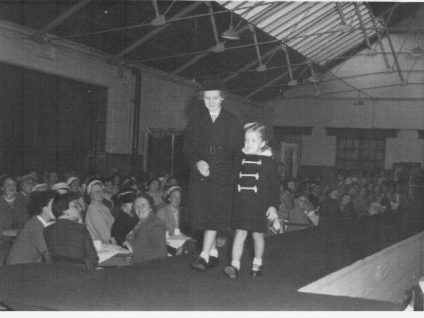 Two Sisters On The Catwalk At A Fashion 'Mannequin Parade'  At Drill Hall In Irvine 21 Sept 1959