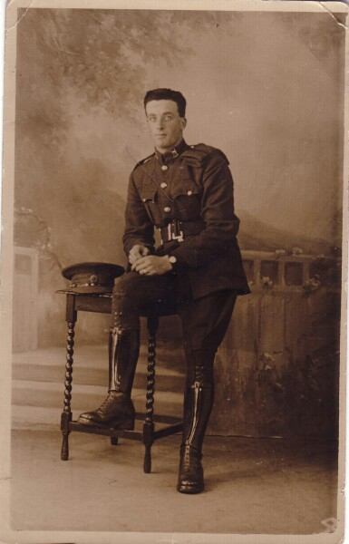 Studio Portrait Soldier Of The Irish Free State Army c.1930