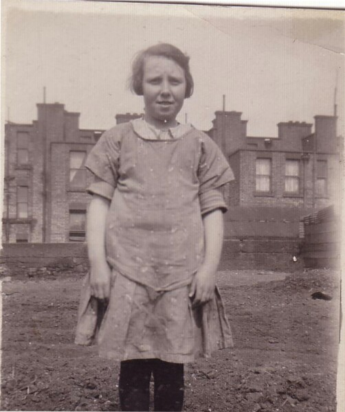 Portrait Of Girl Outside The Allingham Buildings In South Dublin 1930
