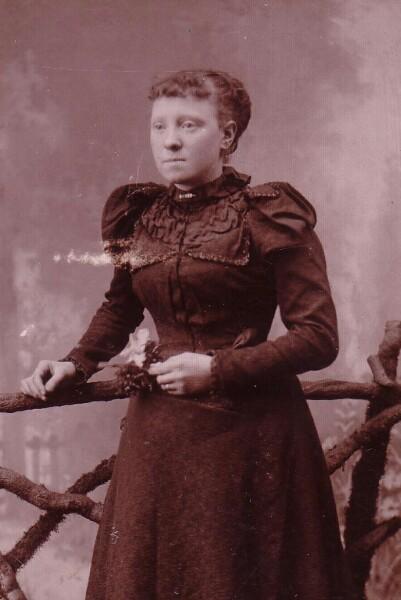 Studio Portrait Young Victorian Woman 1887