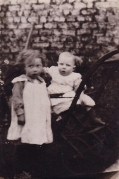 Young Sister And Brother At Allotment In Dublin 1916