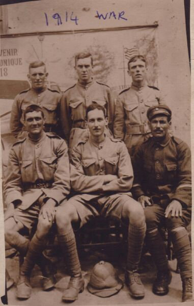 Group Portrait Soldiers 1918