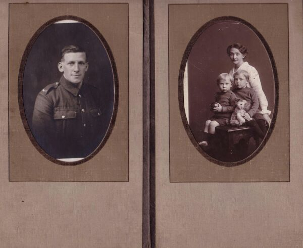 Pair Of Portraits Sent Between Husband And Wife 1917