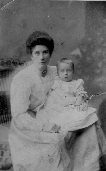 Studio Portrait Mother And Daughter c.1914