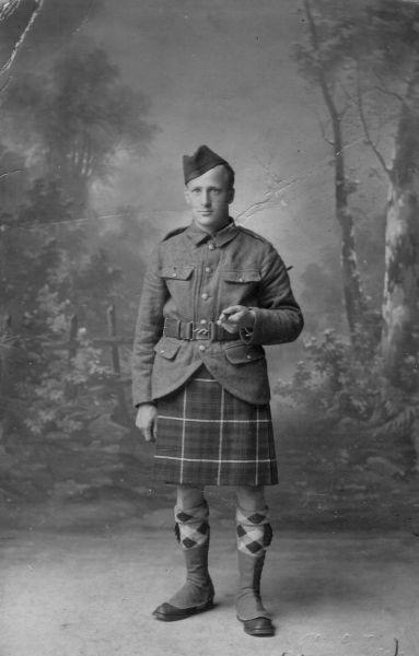Studio Portrait Young Soldier 1914-18