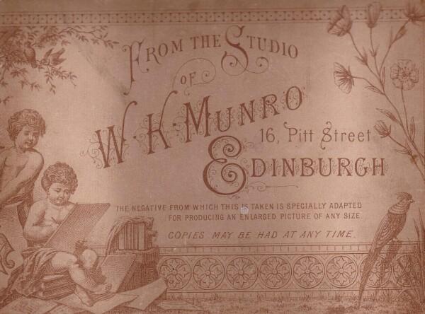 WK Munro Studio Card c.1880