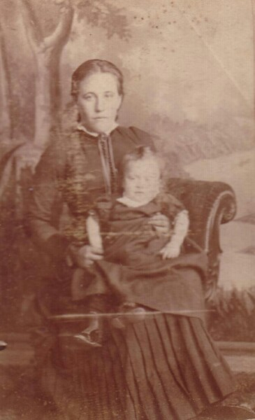 Studio Portrait Mother And Child 1892