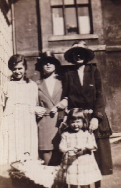 Three Sisters And A Friend In The Back Green At 87 Grove Street 1924