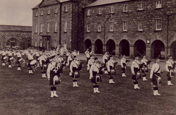Gordon Highlanders Military Band At Fort George c.1920